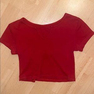 brandy melville/john galt red short sleeve
